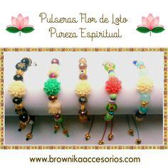 Colección Pulseras en Hilo con Flor de Loto. Precio$ 12.000