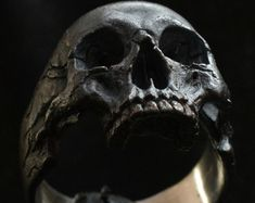 Into The Fire Jewelry  Skull ring Standard decayed by Bakogiorgis