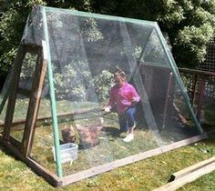 Repurposed Recycled Reused Reclaimed Restored shared Do It Yourself - DIY's photo. Facebook Post Chicken coop from swing set frame!
