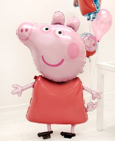 How good is this giant Peppa Pig balloon? It'd make the perfect addition to your Peppa Pig party decorations or a great gift for the birthday boy or girl.
