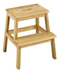 LIVA stool for climbing, solid oak, width: 38 cm, height: 47 cm, Jysk