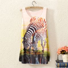 comfy tank top zebra print#best seller