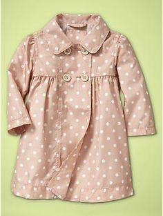cute polka dot trench coat for baby