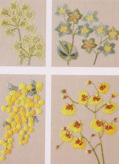 Set of Embroidery pdf e pattern hand stitch garden by dickdocker, $5.00