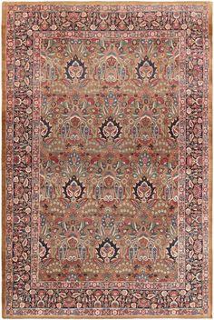 Antique Kerman Persian Rug 46758 Nazmiyal - By Nazmiyal