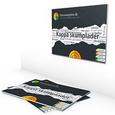 Kappa skumplader (letvægsplader) produceres I formater op til 150 x 200 cm. Trykkes direkte på 10 mm Kapa skumplade.