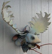 moose - Douglas Fey pottery bird houses