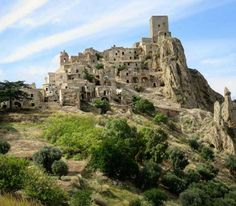 Ghost Town of Craco (Italy) - After natural disasters, Craco became a ghost town in 1963. It was, however, still a popular film location : Saving Grace, James Bond Quantum of Solace and Passion of the Christ were all filmed in this Hollywood film destination. - Want to discover more hidden gems in Europe? All of them can be found on www.mapiac.com