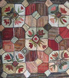 Tulip Geometric Pattern Only 39 x 42 by northwestfolkdesign
