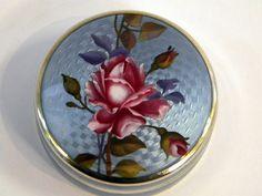 NORWEGIAN SILVER & ENAMEL ROUND BOX c, 1920John Bull Antiques www.antique-silver.co.uk Silver Dealer London, UK