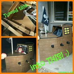 Halloween 2015 - Made baby's 1st Halloween super fun with her very own pirate ship! If you are gonna have to push a stroller now, might as well make it part of the costume!
