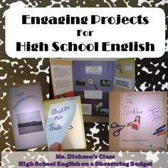 Engaging Projects or Project Based Learning (PBL) for High School, Secondary, or Middle School English ELA Literature.