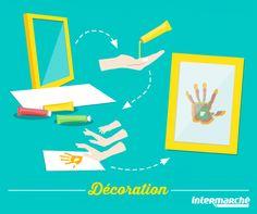 Voilà une petite idée toute simple pour créer un objet de décoration pour  la chambre de vos loulous, avec une feuille de papier, 3 tubes de gouache  de ... 20db7b99d01