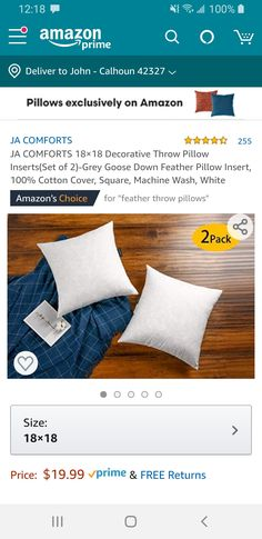 Grey Goose, Feather Pillows, Down Feather, Dorm Room, Pillow Inserts, Decorative Throw Pillows, Room Inspiration, Dormitory, Accent Pillows
