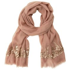 Sequin Scarf – Light Brown by Indigo | Fashion Scarves Gifts | chapters.indigo.ca