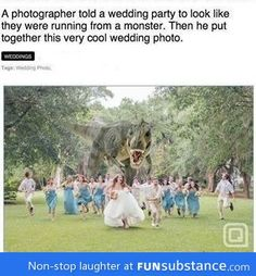 Coolest wedding photo ever