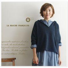 【LA MARINE FRANCAISE マリン フランセーズ】フード 付 ニット プルオーバー カットソー(mlk4510041)