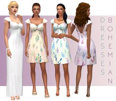 Hi Everyone!  These 2 BGC dresses were made for my legacy. I needed a chic long bohemian style wedding dress for Emilia. After completing the long one I thought how cute it would be in a short version! Andddd… to make the short dress more appealing...