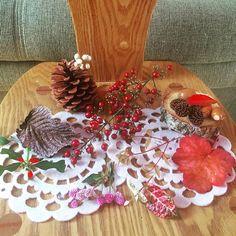 【tomo1125happy】さんのInstagramをピンしています。 《❇︎秋のおくりもの❇︎my garden お庭で色づきだしたかわいい葉や実を あつめてみました〜🍁🍂🌰 ❇︎ 昨日、保育園に行ってきた4歳くんがひろってきたものもすこしだけまぜました〜👬 ❇︎ おおでまりの濃い茶色の葉がすき✨ 南天の金色みたいになった葉や実もすき✨ ❇︎ ヒメシャラの葉も、かわいい ❇︎ 小さい椅子は義兄のて手づくり〜❤️ 1番上が幼い時に作ってくれていただいた〜 ❇︎ いつもこの時期にさいてくる、葉のかたちが面白い左下の赤と緑が美しい植物は? 名前が?で〜どなたか知ってたらおしえてほしいな〜 ʕ•̫͡•ʕ*̫͡*ʕ•͓͡•ʔ-̫͡-ʕ•̫͡•ʔ*̫͡*ʔ-̫͡-ʔ 🍀 #garden #gardening #ガーデン#庭#natural #秋#紅葉#実#リース#どんぐり#森#朝#マイガーデン #mygarden #naturalgarden#handmade#ハンドメイド#コドモノ#くらし #4歳#ゆうま#男の子#木#自然#写真#写真好きな人と繋がりたい…