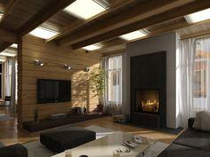 красивый дизайн спальни с клееным брусом: 21 тыс изображений найдено в…