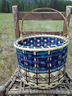 DIY videos Indigo Blue Knit Wit Basket | Jill Choate Basketry - J Choate Basketry - several how-to videos
