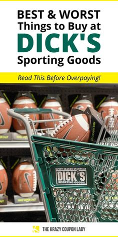 Wondering what the best things to buy at Dick's Sporting Goods are or how to save money on sports equipment and workout apparel? At Dick's Sporting Goods, you have to know the best and worst things to buy before you get sucked into a sale. Backpacks, golf clubs, Nike, adidas, camping gear rentals, Columbia Outerwear, The North Face, mountain bikes, Yeti, & youth soccer gear are just a few items we've covered. The Krazy Coupon Lady has the shopping tips and money-saving hacks you're looking for! Golf Club Sets, Golf Clubs, Pelican Kayak, Callaway Strata, Softball Gear, Cool Things To Buy, Good Things, Store Hacks, Youth Soccer