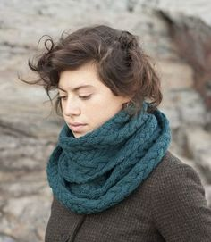 "Liesl Cowl from Madder, knit in Quince and Co. ""Lark"".  looks toasty and delicious."