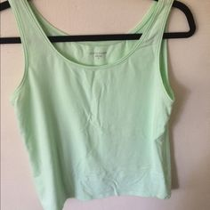 Eileen Fisher tank top Light lime green top in great condition! Eileen Fisher Tops Tank Tops