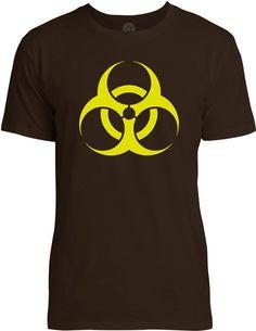BioHazard (Yellow) Mens Fine Jersey T-Shirt