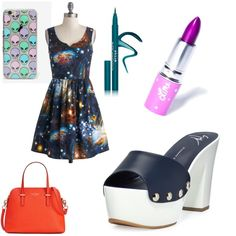 Alien Invader by kaycie-marie-surrell on Polyvore featuring polyvore, fashion, style, Giuseppe Zanotti, Kate Spade, Skinnydip, Stila and Lime Crime