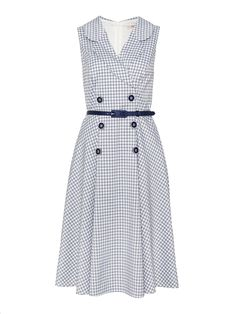 Nice Dresses, Dresses For Work, Vintage Inspired Dresses, Gingham Dress, Review Dresses, Occasion Wear, My Wardrobe, Vintage Looks, A Line Skirts