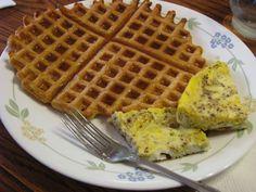 Trim Healthy Mama Waffles modifying Bread in a Mug recipe.