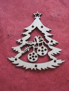 2 Beautiful Tree Decorations With Laser Cut Baubles - Christmas - Daisymoon Designs