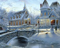 ♥ pretty *Could this be a Thomas Kincade painting?* pa
