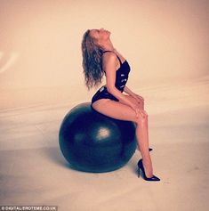 Set to Sexercise? Kylie Minogue sizzled in an image reminiscent of her recent music video, which was posted to Instagram on Tuesday to promote her Kiss Me Once Tour behind-the-scenes TV special in the UK