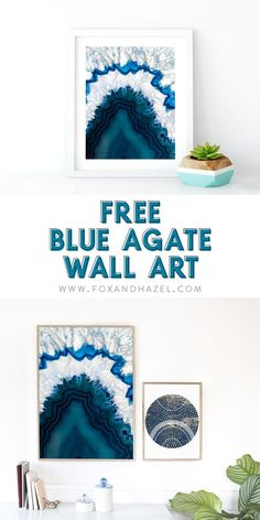 Imaginative Halloween Costumes - The Best Way To Be Artistic With A Budget Need More Geodes In Your Life? Get This Free Blue Agate Wall Art For Your Gallery Wall Metal Tree Wall Art, Diy Wall Art, Diy Wall Decor, Framed Wall Art, Wall Art Prints, Home Decor, Diy Art, Blue Wall Decor, Wall Decorations