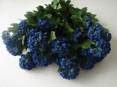 1 Karton mit 12 Schneeballzweigen blau 70cm Schneeballzweige Kunstblumen in OVP!