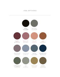 color palette copies Copy of Copy of Semi-Custom Ink Colors Colour Pallette, Colour Schemes, Earthy Color Palette, Color Palette Generator, Card Envelopes, Letterpress Printing, Color Stories, Ink Color, Color Card