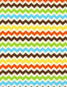 Ziggy Small Chevrons Fiesta Colorway by by Loriscountryfabrics, $8.95