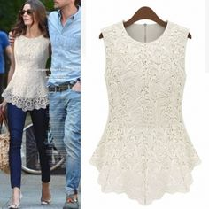 Fashion O Neck Sleeveless Solid White Blouse_Blouses&Shirts_Tops_Womens Clothing_Cheap Clothes,Cheap Shoes Online,Wholesale Shoes,Clothing On lovelywholesale.com - LovelyWholesale.com