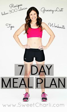7 Day Challenge Download - {Healthy Meal Plan and Workouts} - this is exactly what I needed!
