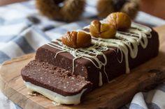 No bake gluten free chestnut cake recipe Sweets Recipes, Raw Food Recipes, Fun Desserts, Cake Recipes, Chestnut Cake Recipe, Chestnut Recipes, Foods That Contain Gluten, Caramel, Greek Sweets