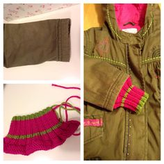 An easy and great tip to make your kids clothes fit one more season! #knit