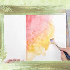 Watercolor Painting Techniques {Painting Techniques}
