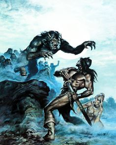 Savage Sword Of Conan Cover by Earl Norem Medieval Fantasy, Dark Fantasy, Fantasy Art, Red Sonja, Comic Books Art, Comic Art, Conan The Barbarian Comic, Conan O Barbaro, Conan The Destroyer