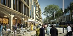 Proposed Abuja Masterplan pedestrian view