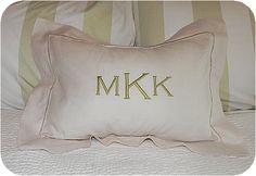 blank hemstitched pillow sham