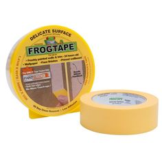 FrogTape 1.41 in. X 60 yd. Frogtape Delicate Masking Tape(10-Pack)-280221 - The Home Depot