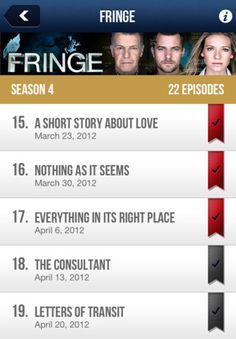 iTVshows --   #awesomeApp  #list  #checkMarks