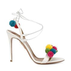 Hello, Saturday night dancing shoes! This playfully pom-pom-ed @Aquazzura pick is available on @ShopBAZAAR and can be worn with everything from vintage jeans to little black dresses. #ShopBAZAAR #swag #stylish #tagforlikes